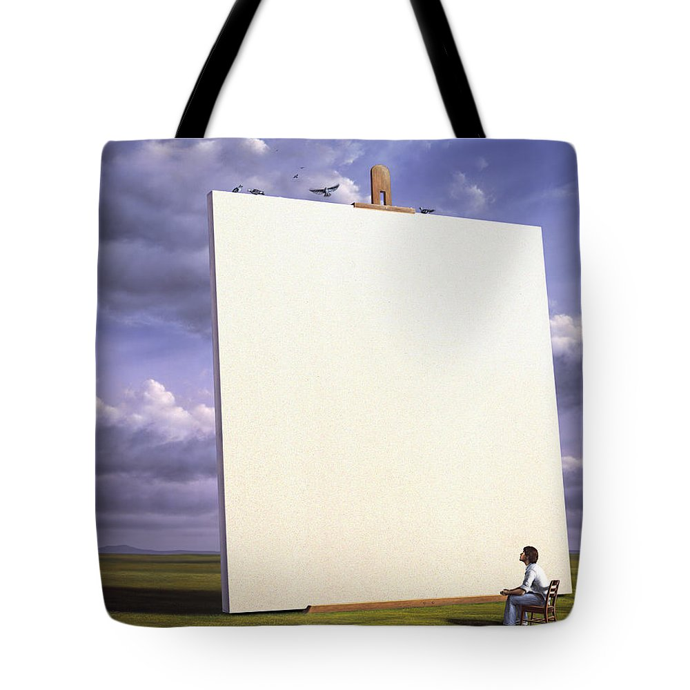 Art Tote Bag featuring the painting Creative Problems by Jerry LoFaro