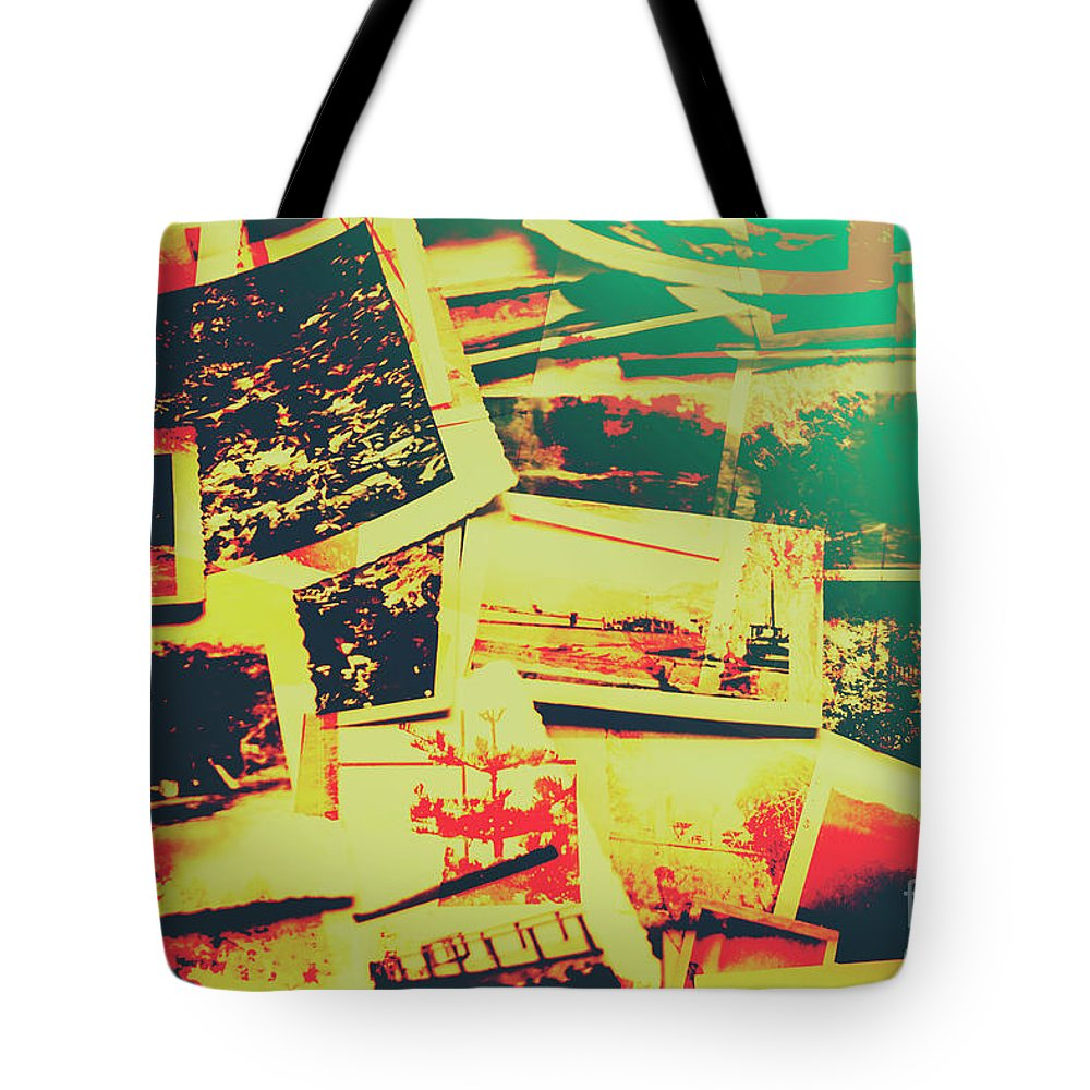 Retro Tote Bag featuring the photograph Creative Retro Film Photography Background by Jorgo Photography - Wall Art Gallery