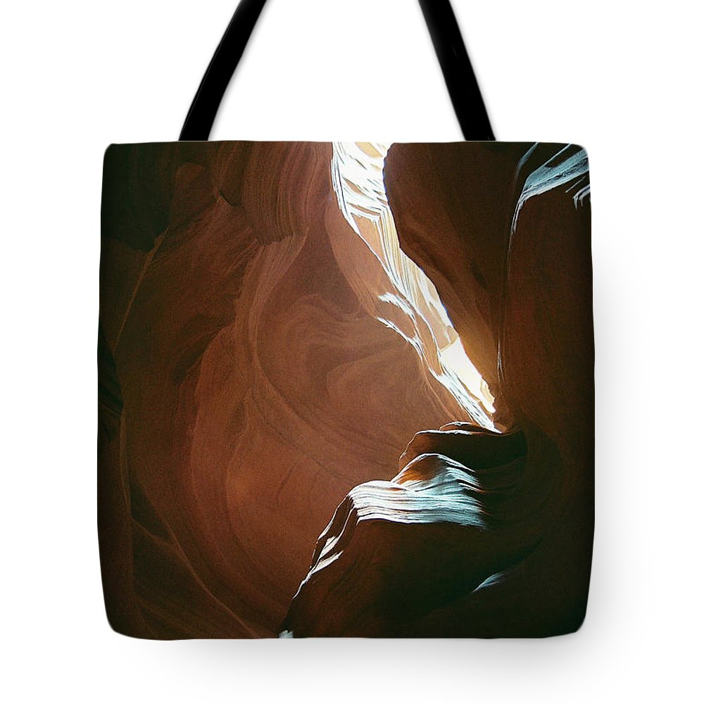 Landscape Tote Bag featuring the photograph Creative Sandstone by Cathy Franklin