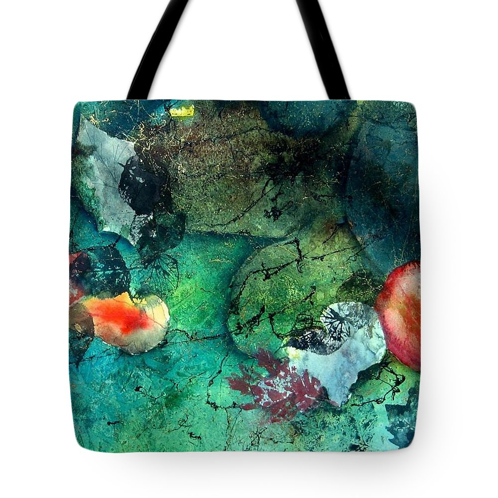 Water Tote Bag featuring the painting Creek Bed by Anne Duke