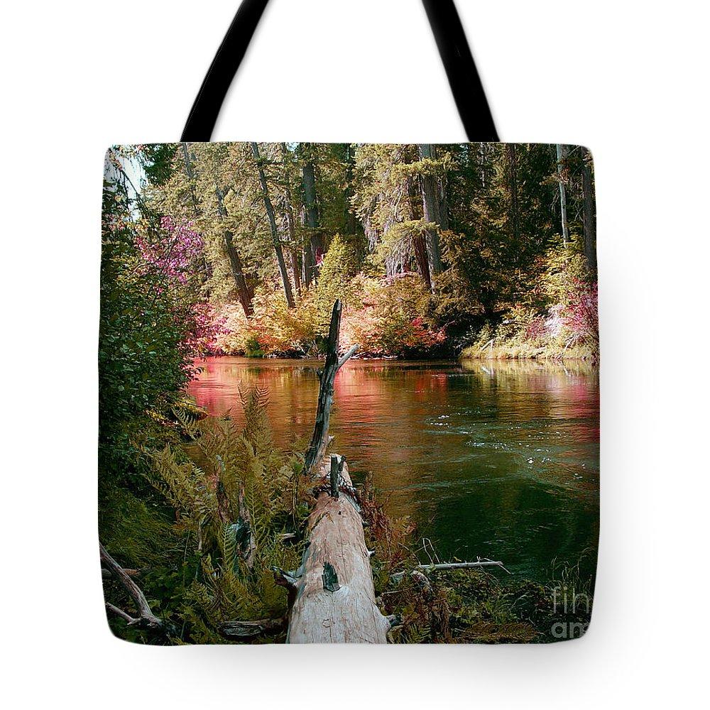 Fall Season Tote Bag featuring the photograph Creek Fall by Peter Piatt