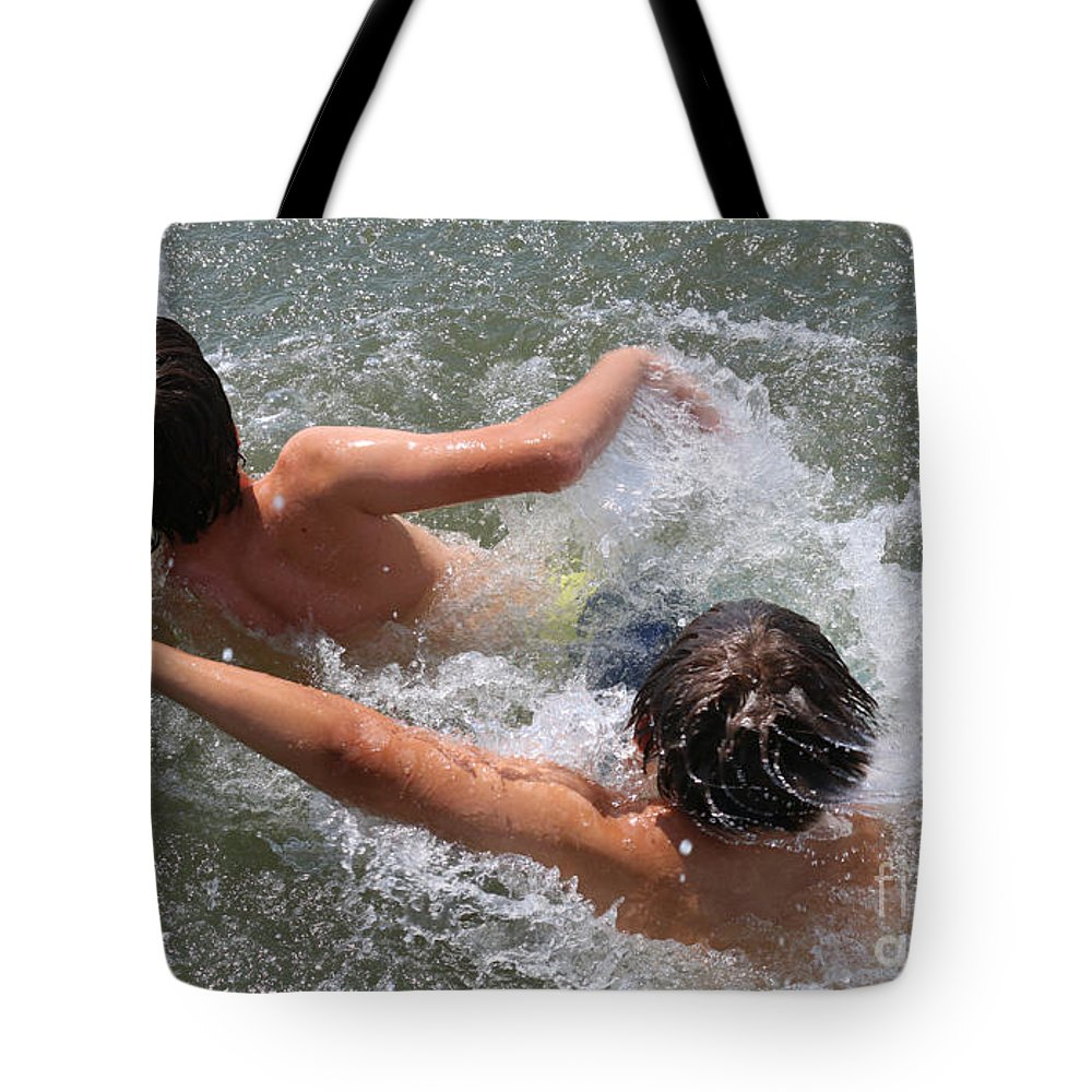 Creek Float Tote Bag featuring the photograph Creek Float by Reggie Fairchild