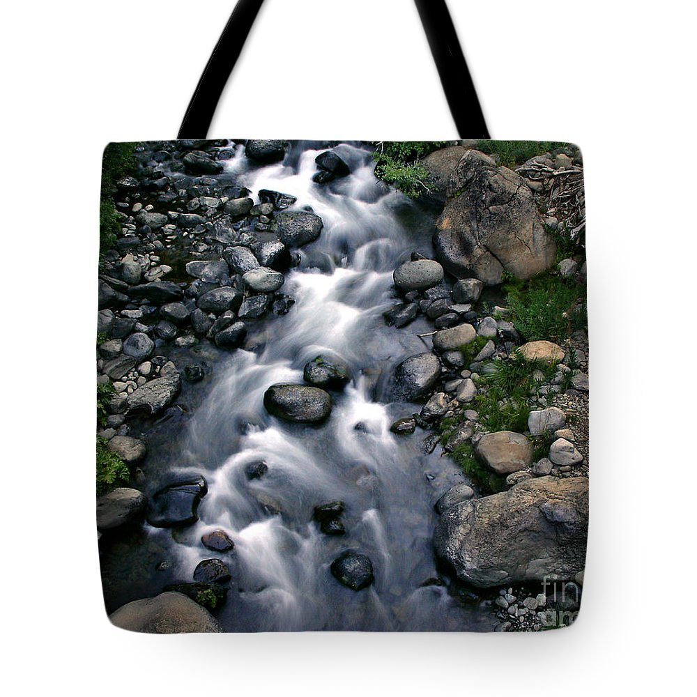Creek Tote Bag featuring the photograph Creek Flow by Peter Piatt