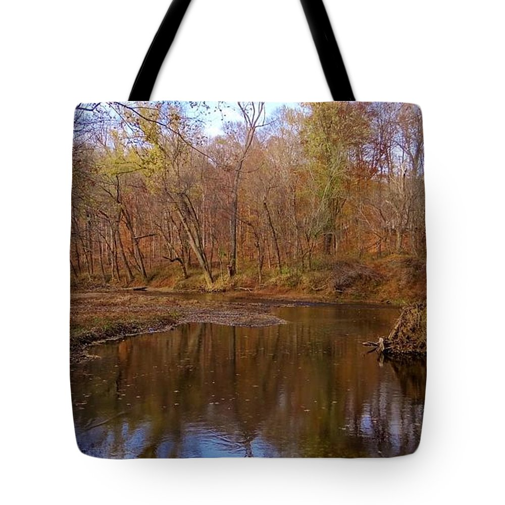Creek Tote Bag featuring the photograph Creek Sceene by Deb Rassel