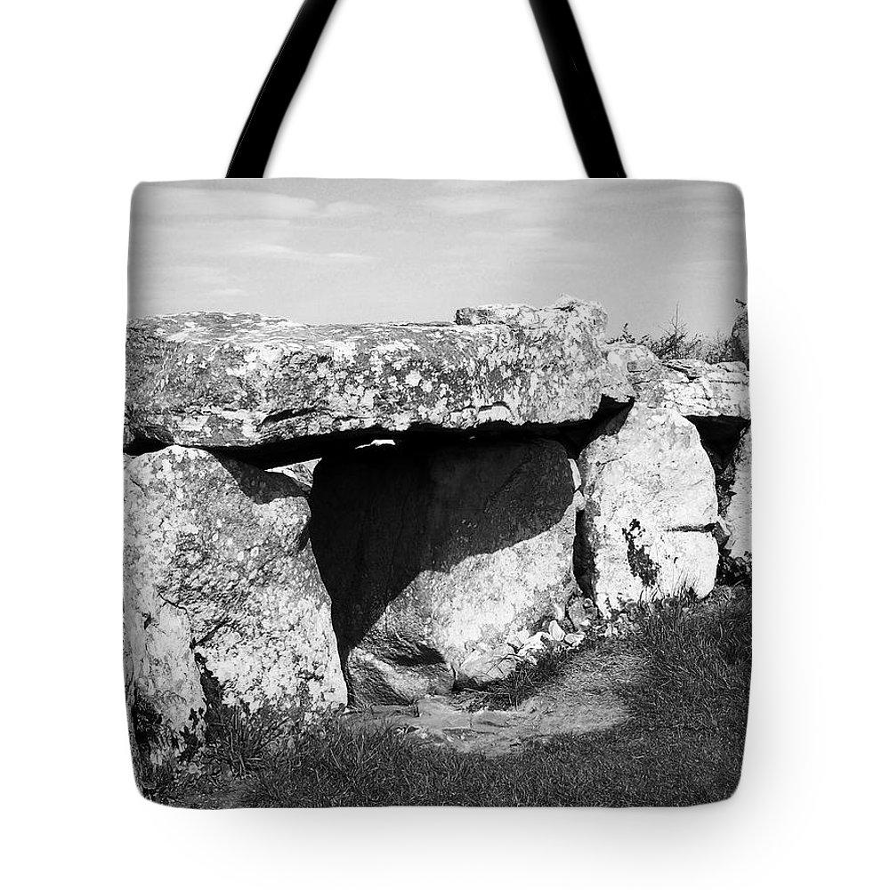Ireland Tote Bag featuring the photograph Creevykeel Court Cairn County Sligo Ireland by Teresa Mucha