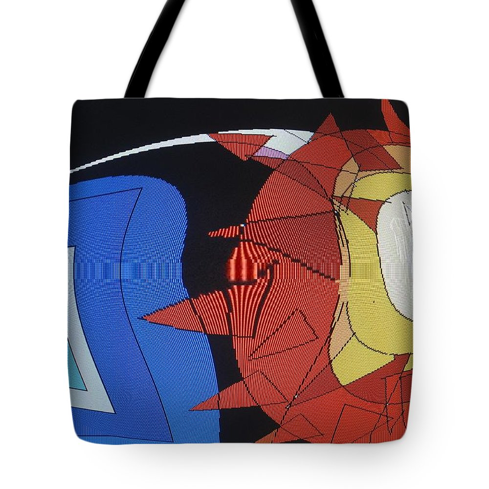 Abstract Tote Bag featuring the digital art Crescendo One by Ian MacDonald