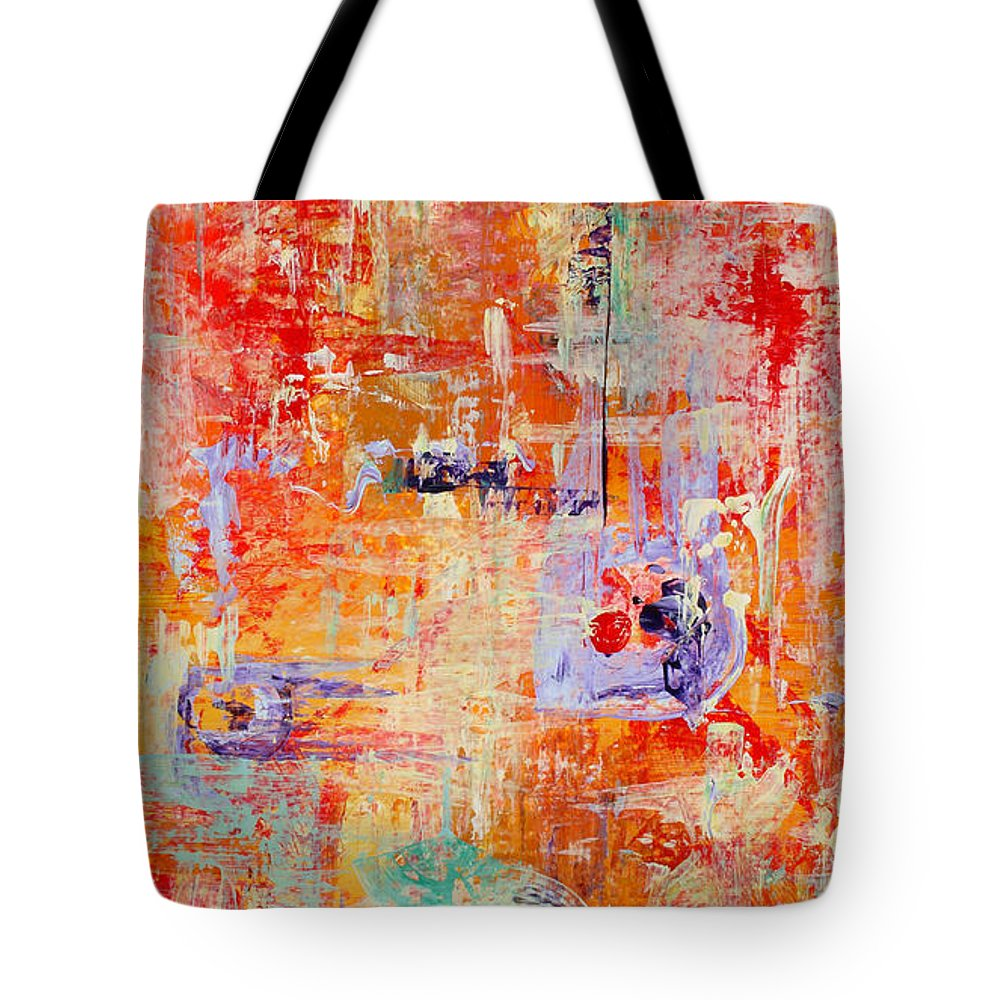 Large Format Painting Tote Bag featuring the painting Crescendo by Pat Saunders-White