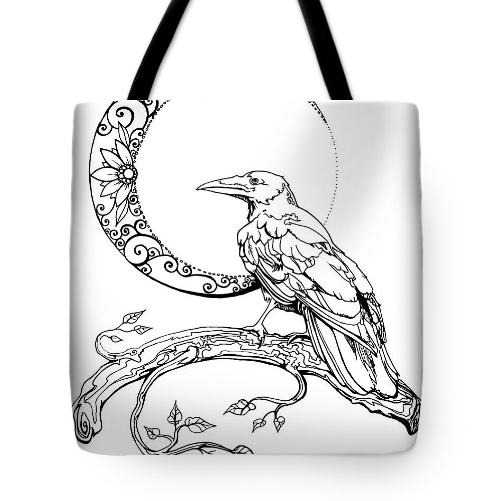 Crescent Moon Crow Tote Bag For Sale By Katherine Nutt