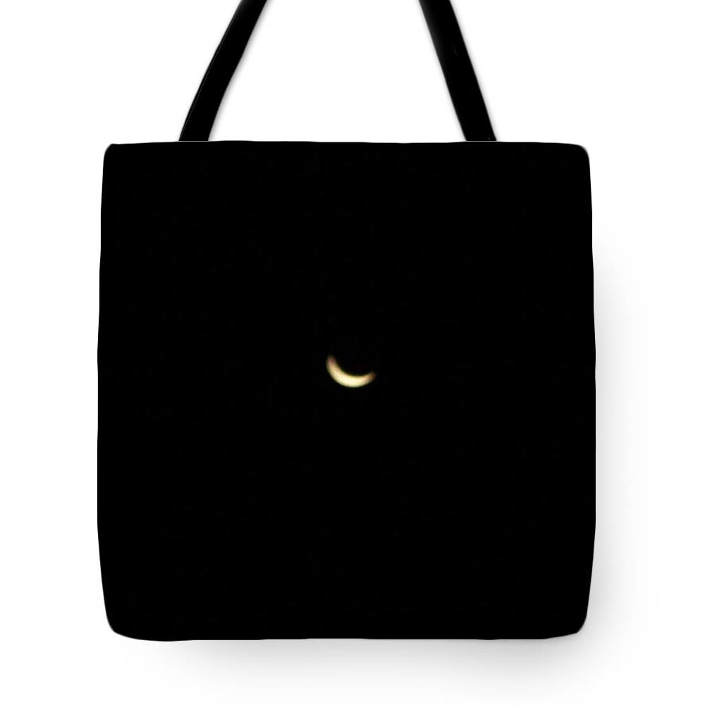 Moon Tote Bag featuring the photograph Crescent Moon by Michelle Miron-Rebbe