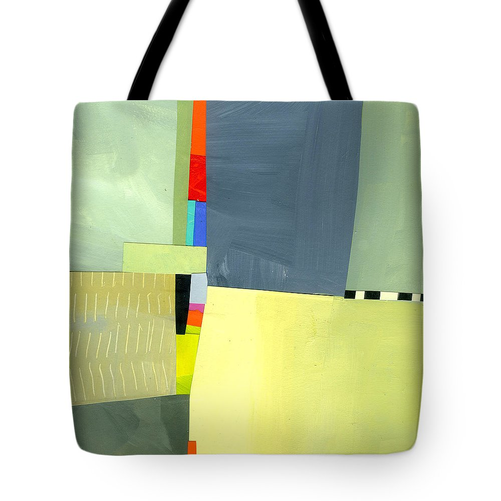 Abstract Art Tote Bag featuring the painting Crevice or Cravat by Jane Davies