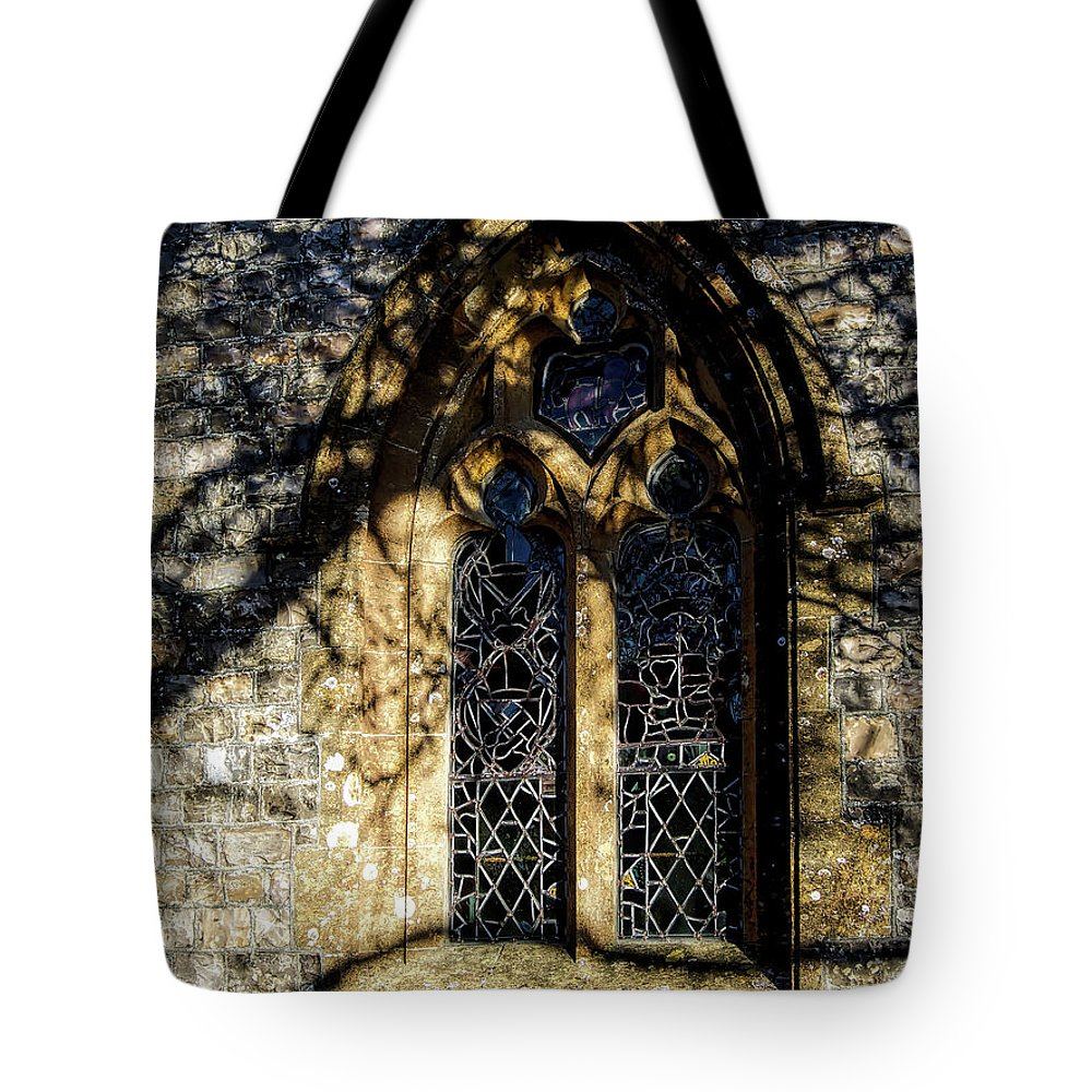 Cricket-st-thomas Tote Bag featuring the photograph Cricket St Thomas Church Window by Susie Peek