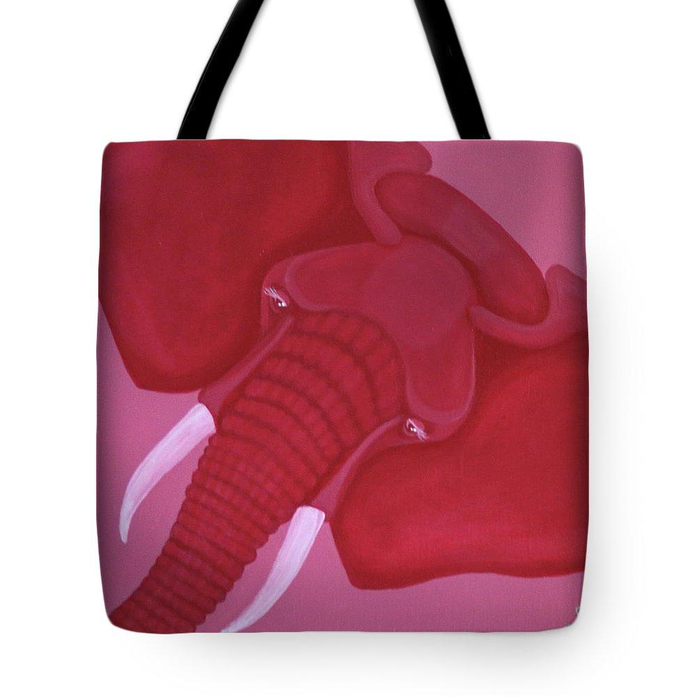 Crimson Elephant Tote Bag