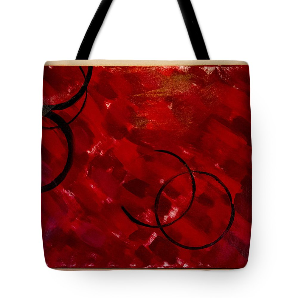 Crimson Tote Bag featuring the painting Crimson by Jacie Garcia