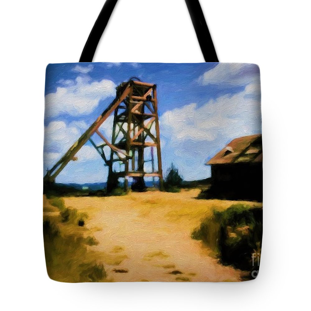 Cripple Creek Tote Bag featuring the photograph Cripple Creek Mine by Jon Burch Photography