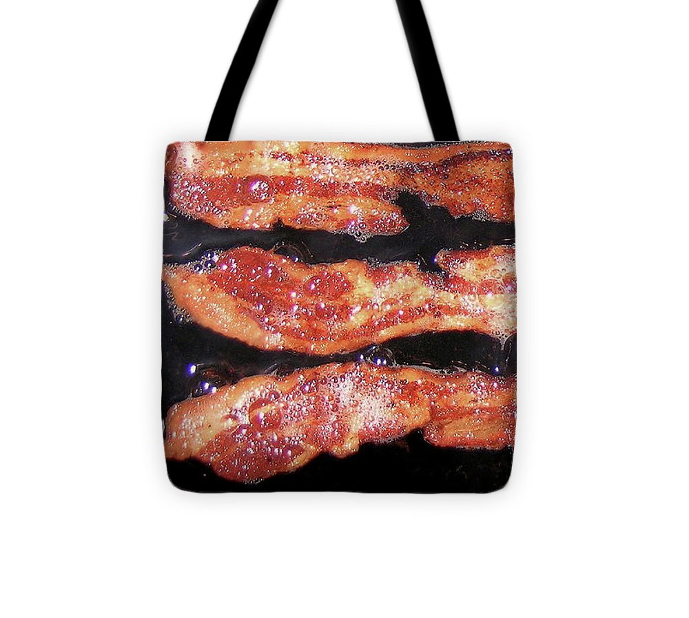 Crisp Tote Bag featuring the photograph Nothing Smells As Good As Sizzling Bacon by James Temple