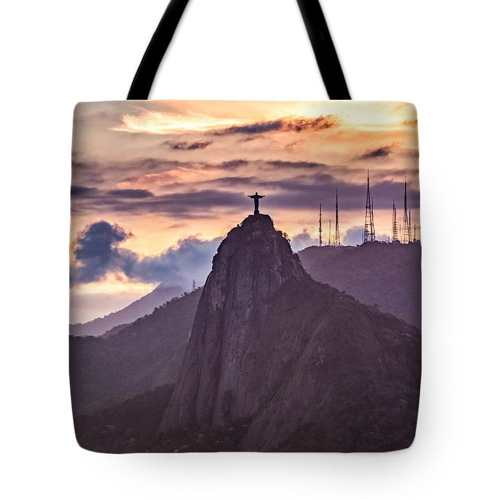 Outdoor Tote Bag featuring the photograph Cristo Redentor - Christ The Redeemer by Desiree Silva