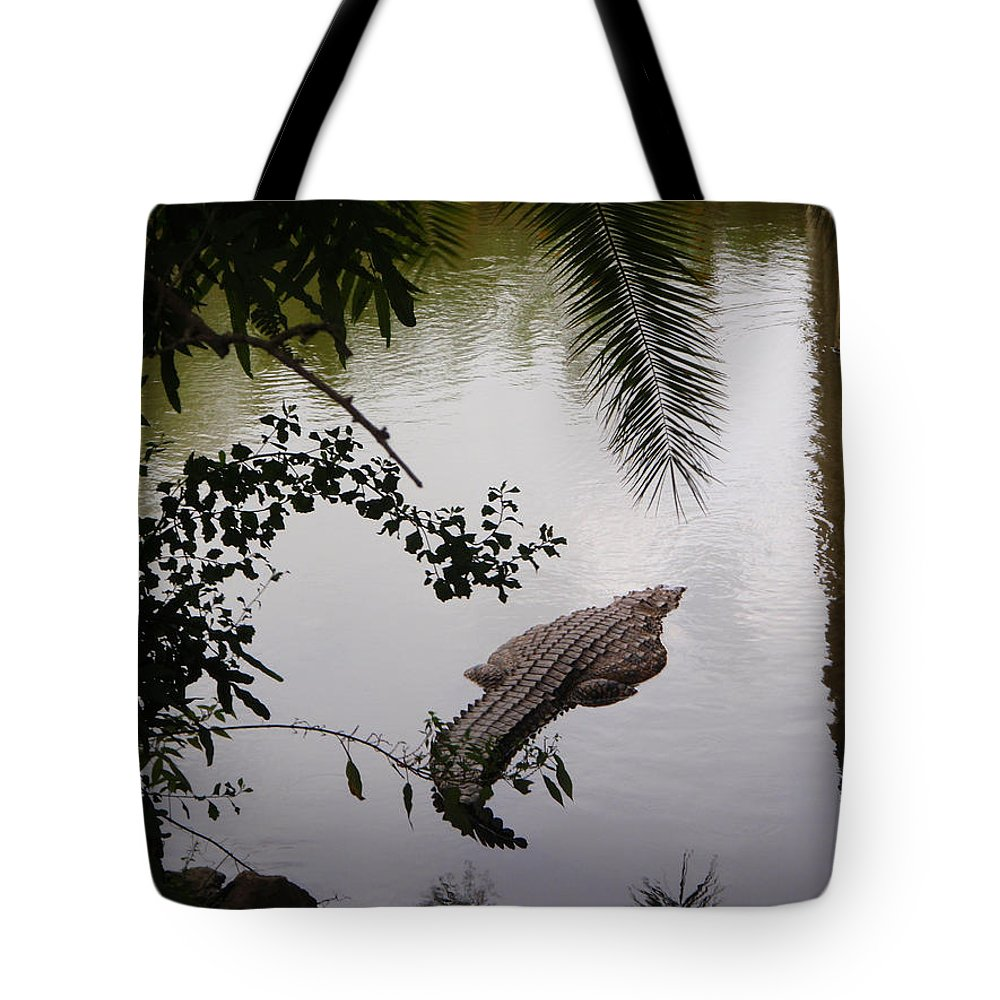 Croco Tote Bag featuring the photograph Croco by Are Lund