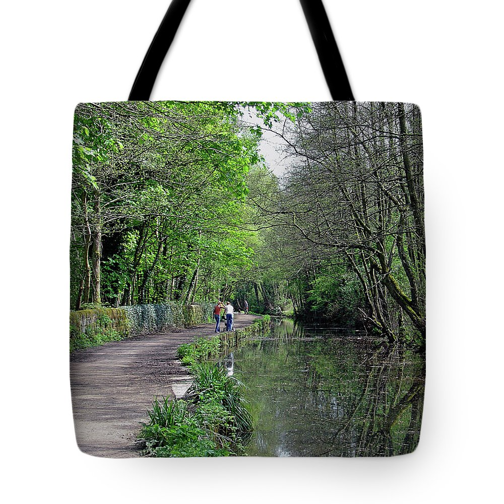 Europe Tote Bag featuring the photograph Cromford Canal - Tree Lined Walk by Rod Johnson