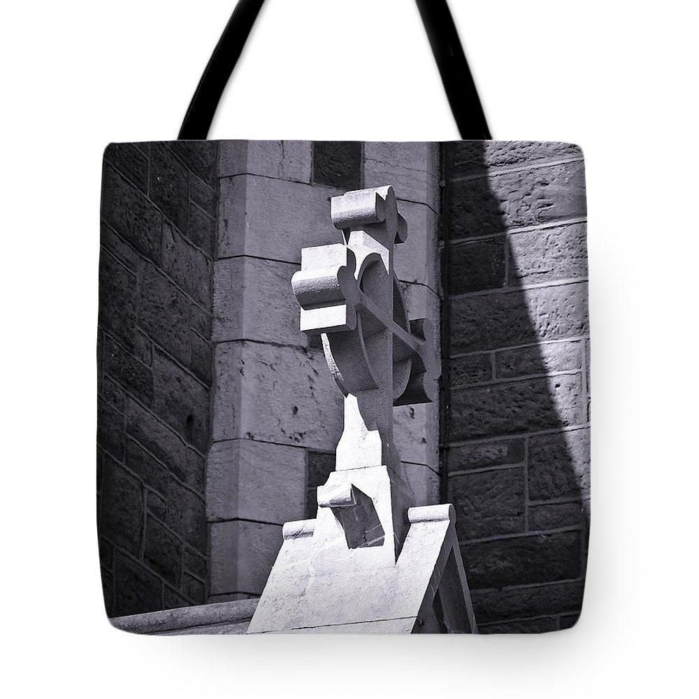 Irish Tote Bag featuring the photograph Cross At St. Johns Tralee Ireland by Teresa Mucha