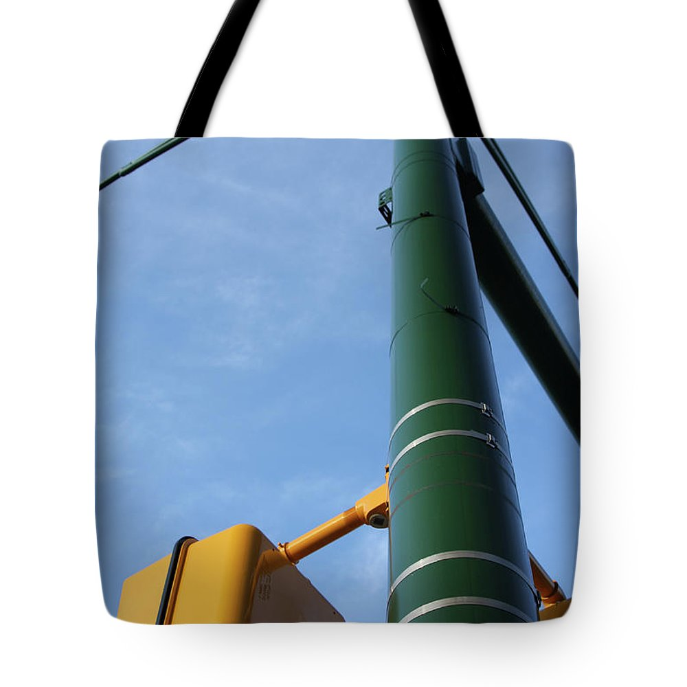 City Tote Bag featuring the photograph Cross Walk Pole by Karol Livote