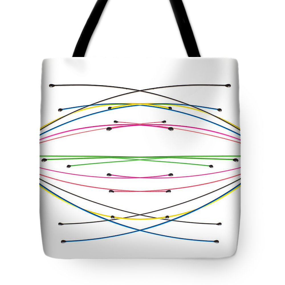 Minimal Tote Bag featuring the photograph Crossed Wires 2 by Steve Purnell