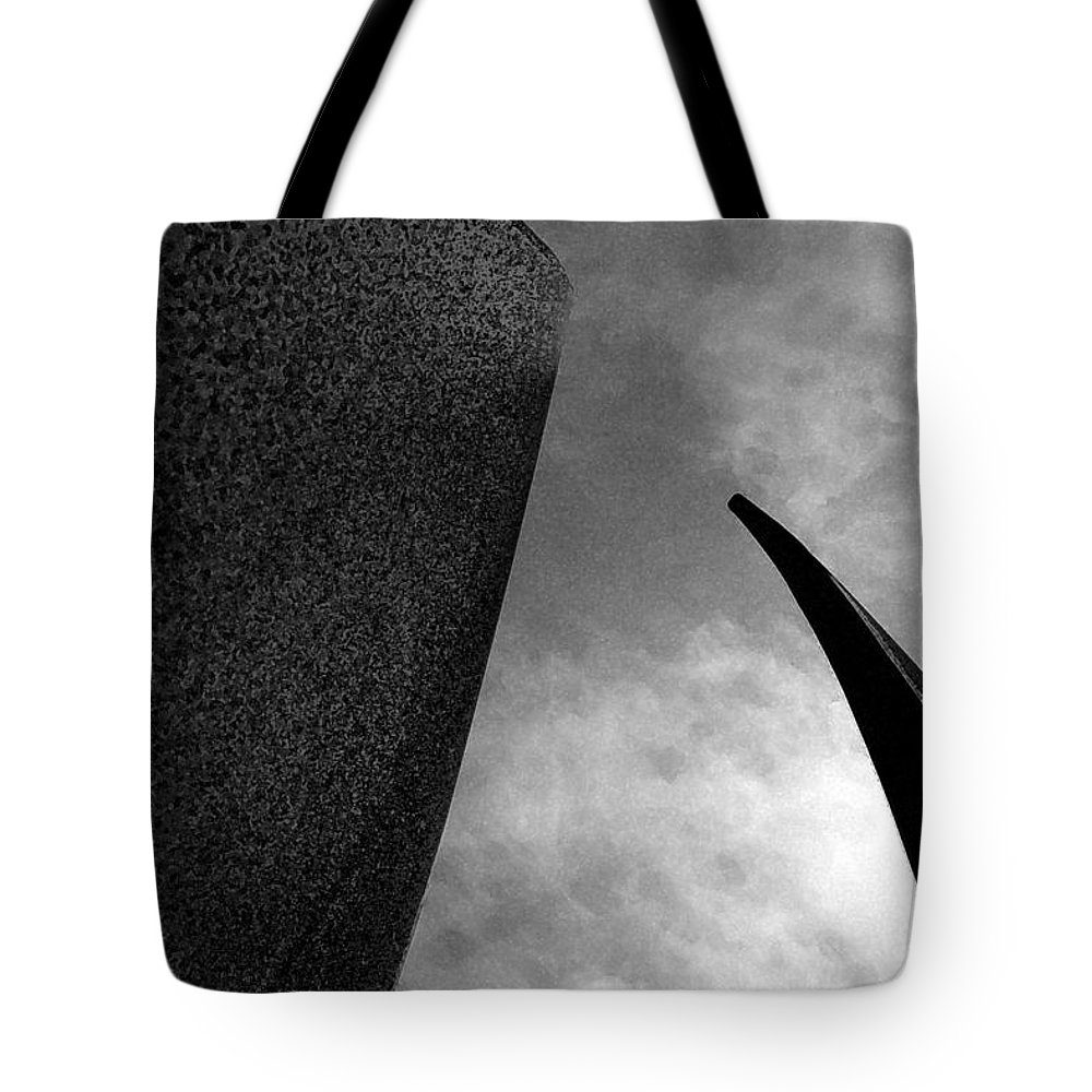 Abstract Tote Bag featuring the photograph Crossing Into Vision by Mykel Davis