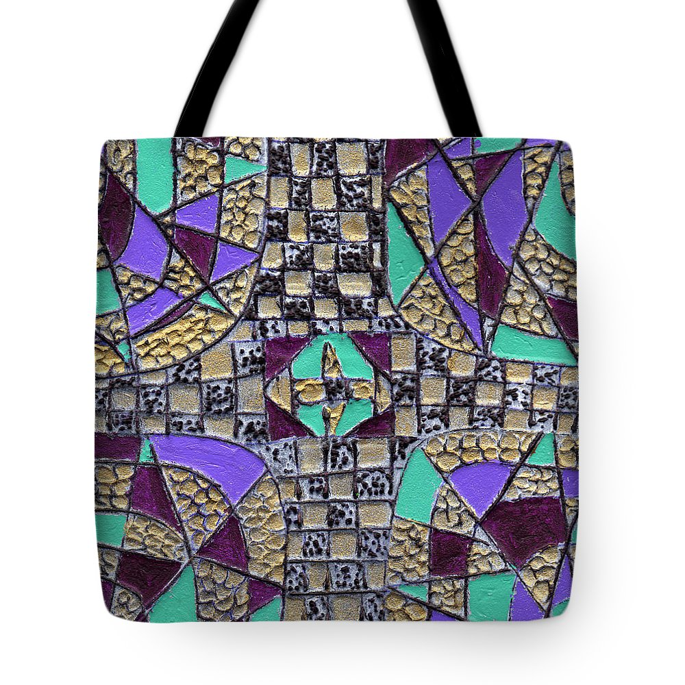 Abstract Tote Bag featuring the painting Crossing Over by Wayne Potrafka