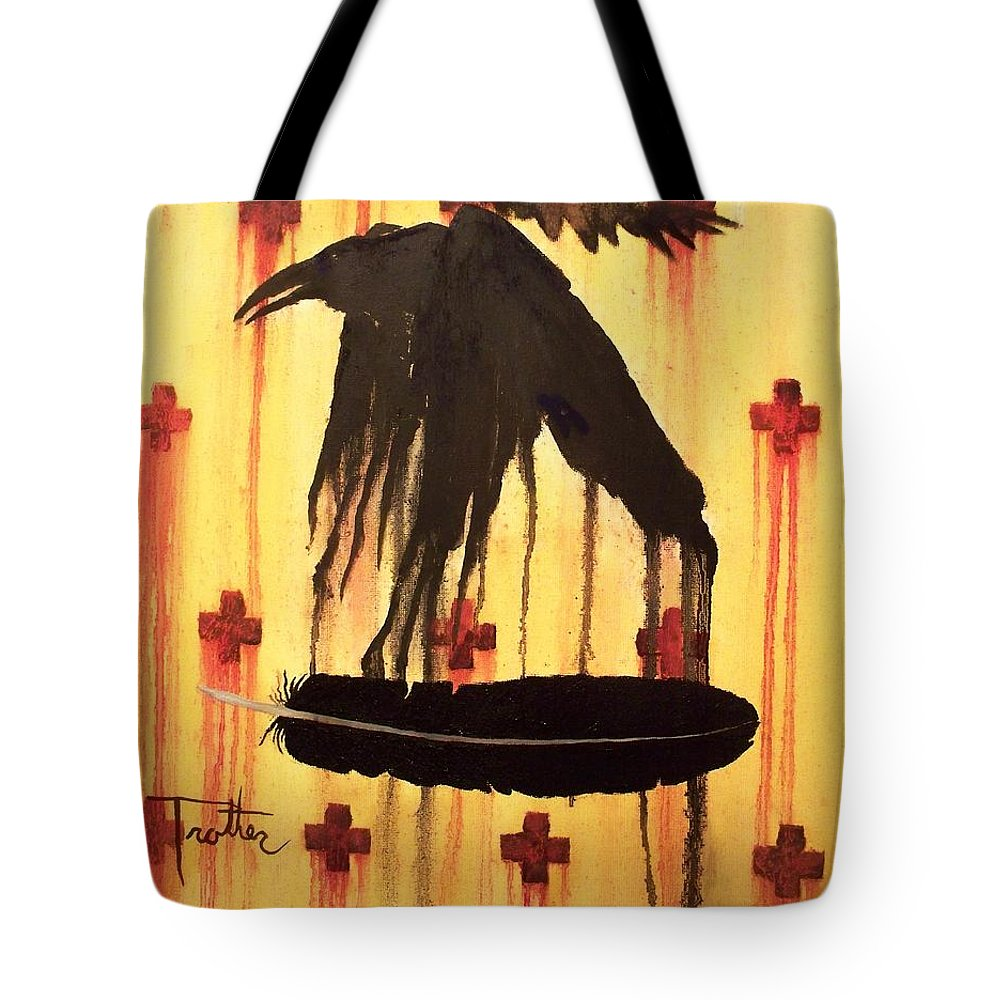 Oil Painting Tote Bag featuring the painting Crossing Paths by Patrick Trotter