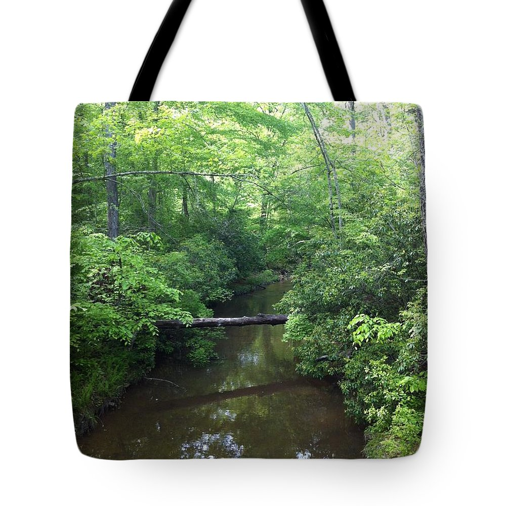 Nature Tote Bag featuring the photograph Crossing by TBlendI Seez
