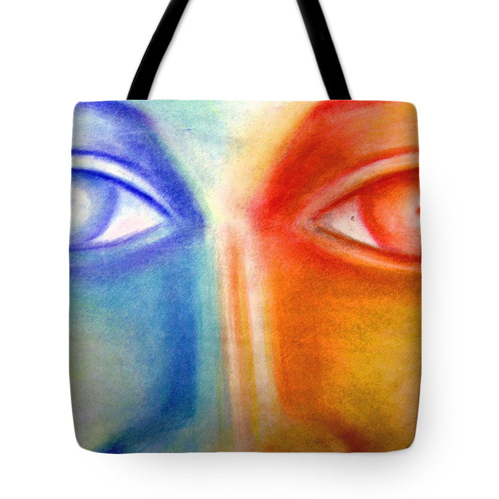 Tote Bag featuring the drawing Crossroads by Jan Gilmore
