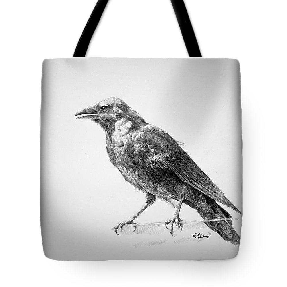 Crow Tote Bags