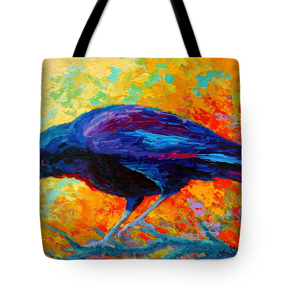 Crows Tote Bag featuring the painting Crow IIi by Marion Rose