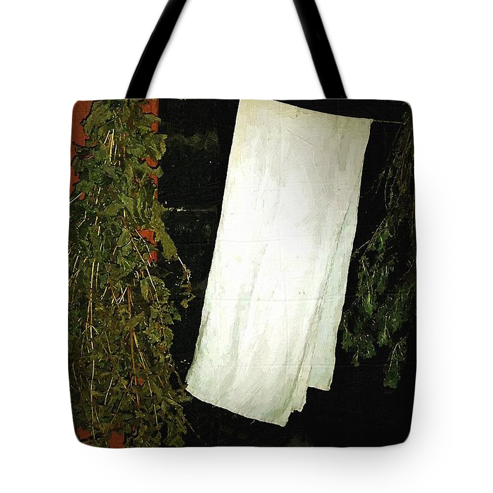 Americana Tote Bag featuring the painting Crowded Hearth by RC DeWinter