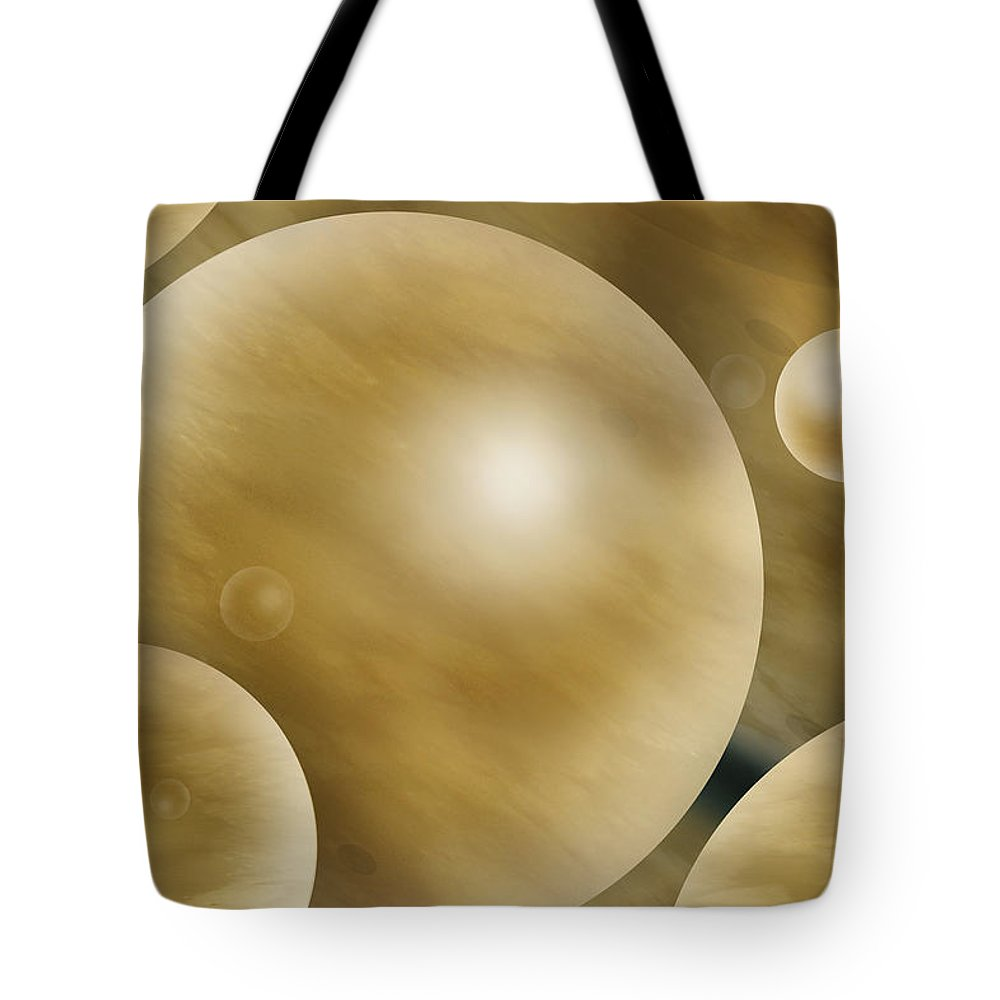 Abstract Tote Bag featuring the photograph Crowded Universe by Mike McGlothlen