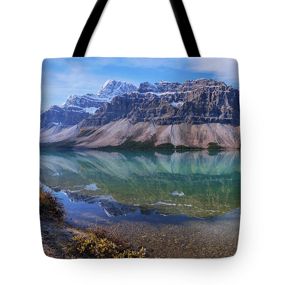 Crowfoot Reflection Tote Bag featuring the photograph Crowfoot Reflection by Chad Dutson