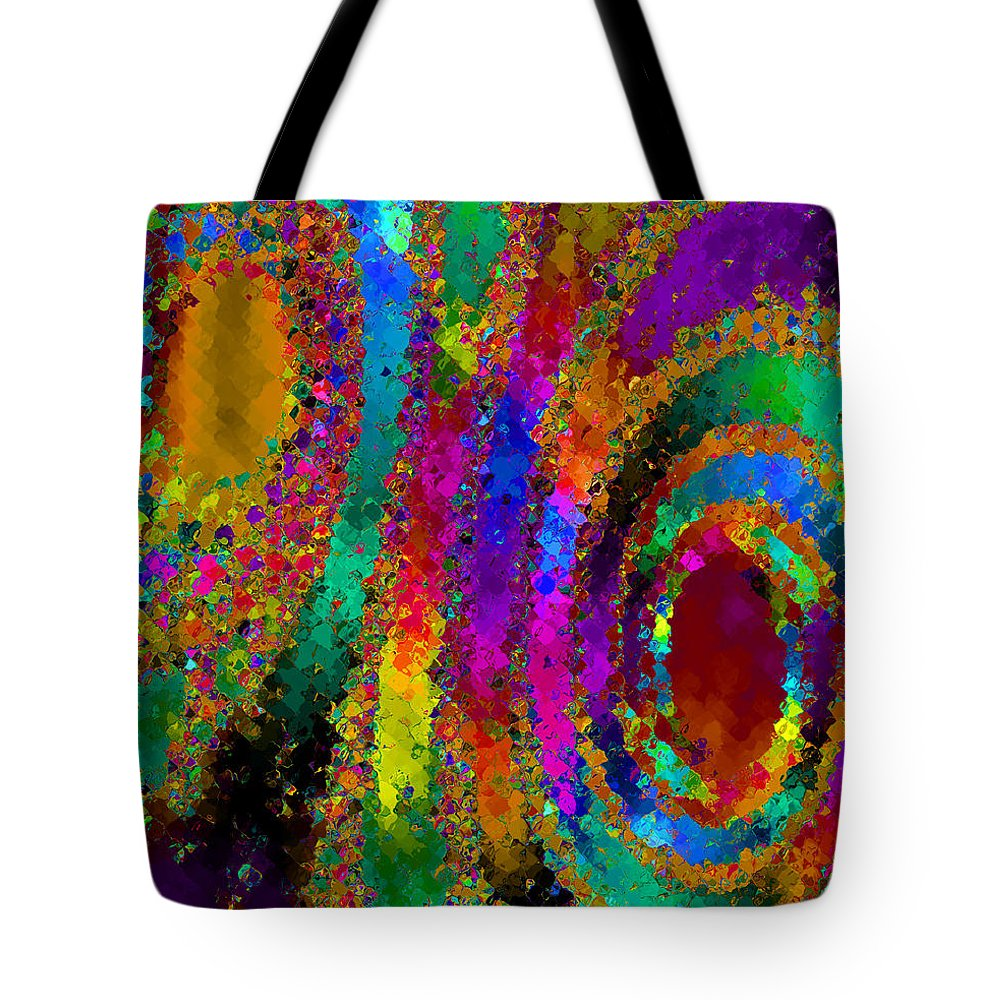 Abstract Tote Bag featuring the digital art Crown Jewels by Ruth Palmer
