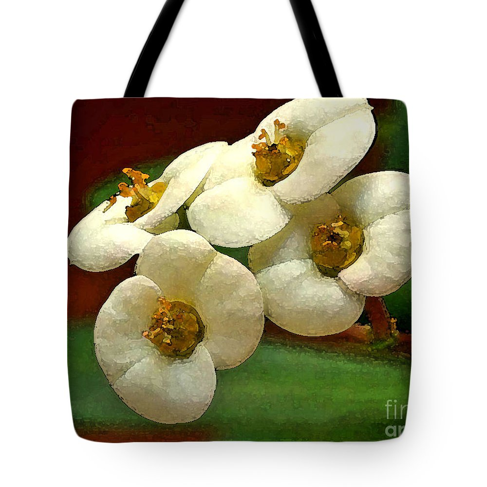Flowers Tote Bag featuring the photograph Crown Of Thorns by Deborah Benoit