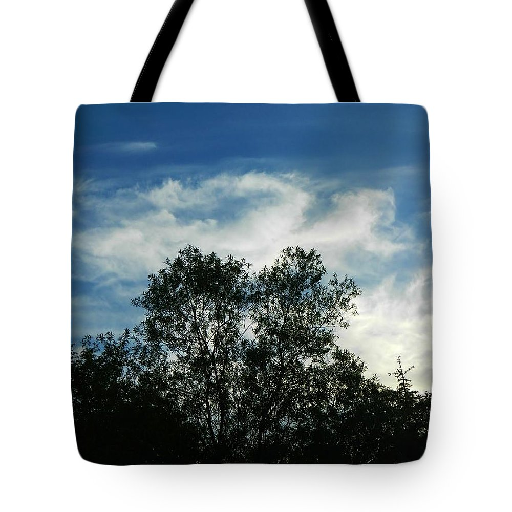 Landscape Tote Bag featuring the photograph Crowned Trees by Gallery Of Hope
