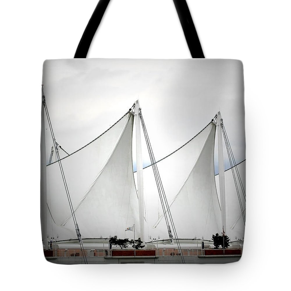 Vancouver Tote Bag featuring the photograph Cruise Ship Terminal Vancouver Canada by Christine Till
