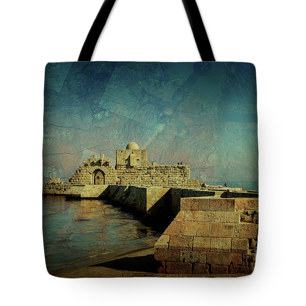 Crusaders Tote Bag featuring the photograph Crusaders Sea Castle by Naoki Takyo