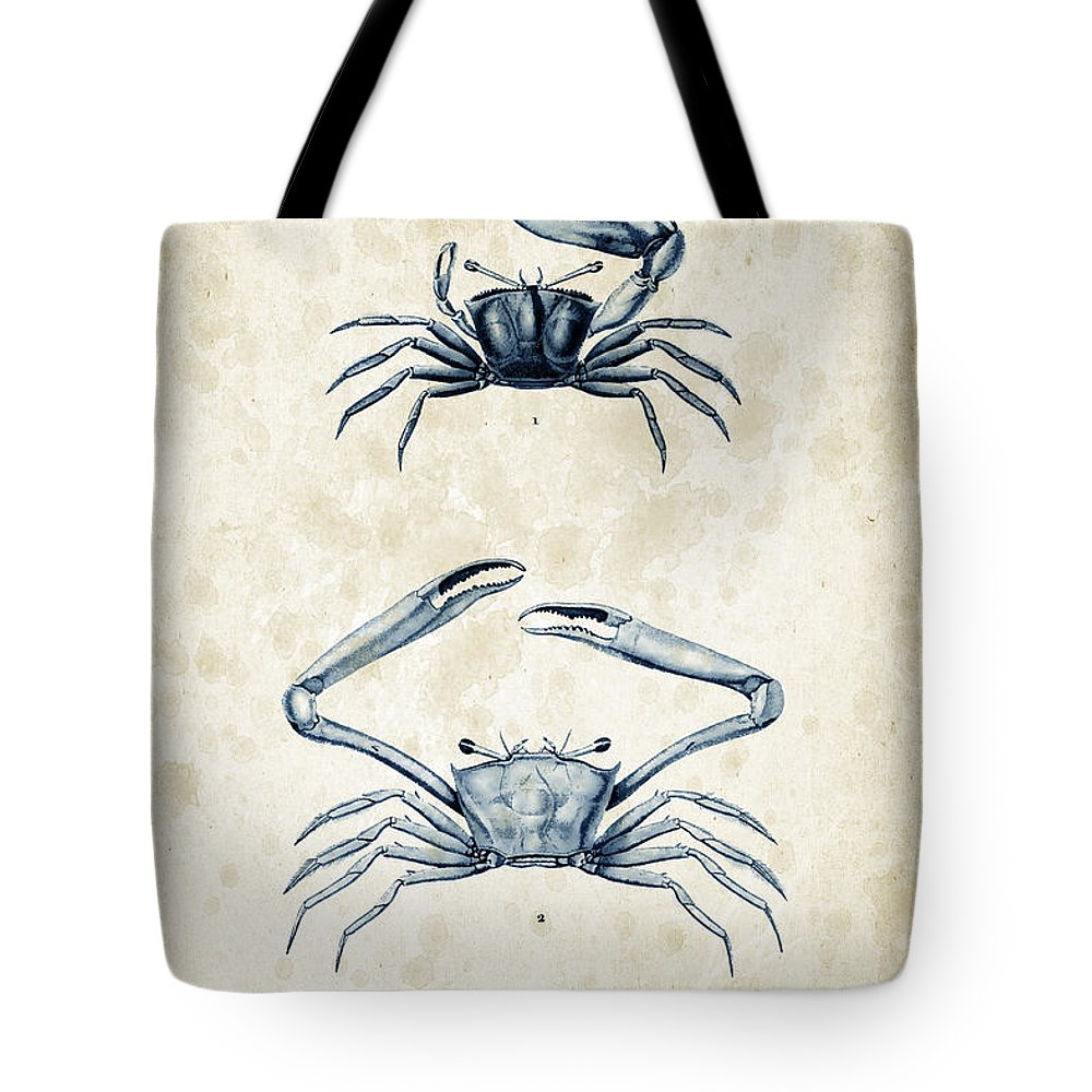 Crabs Tote Bag featuring the digital art Crustaceans - 1825 - 11 by Aged Pixel