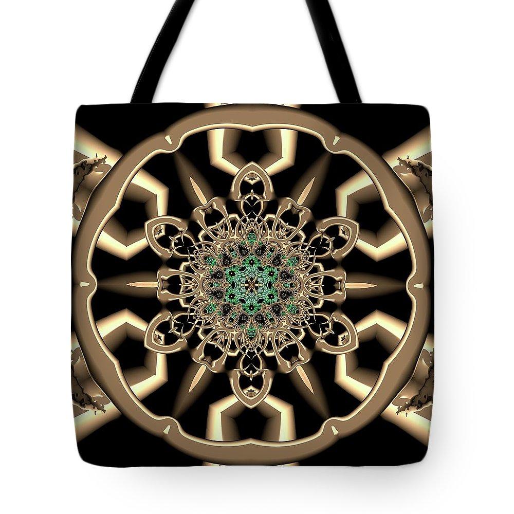 Light Tote Bag featuring the digital art Crystal 6134555 by Robert Thalmeier