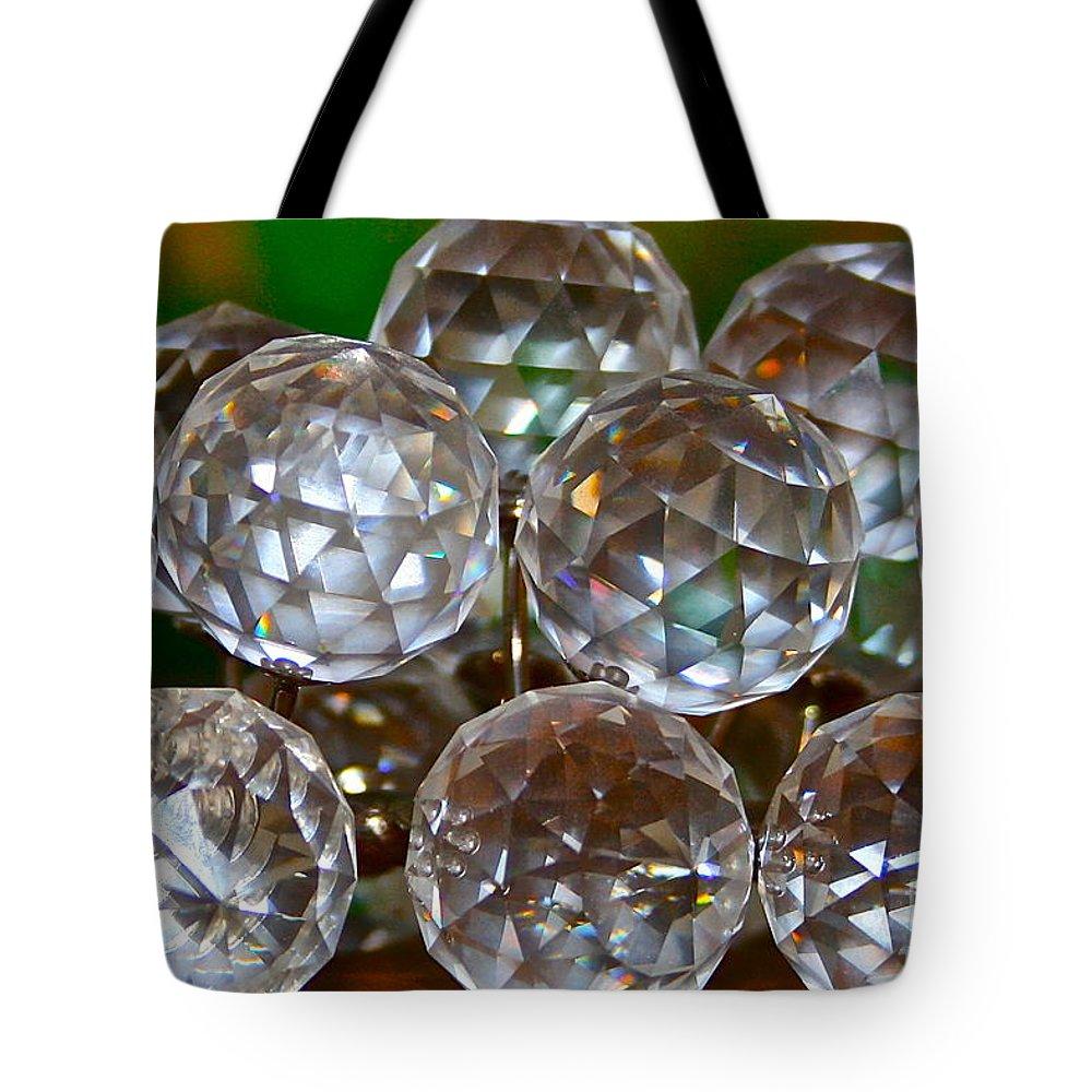 Crystal Tote Bag featuring the photograph Crystal Balls by Rick Monyahan