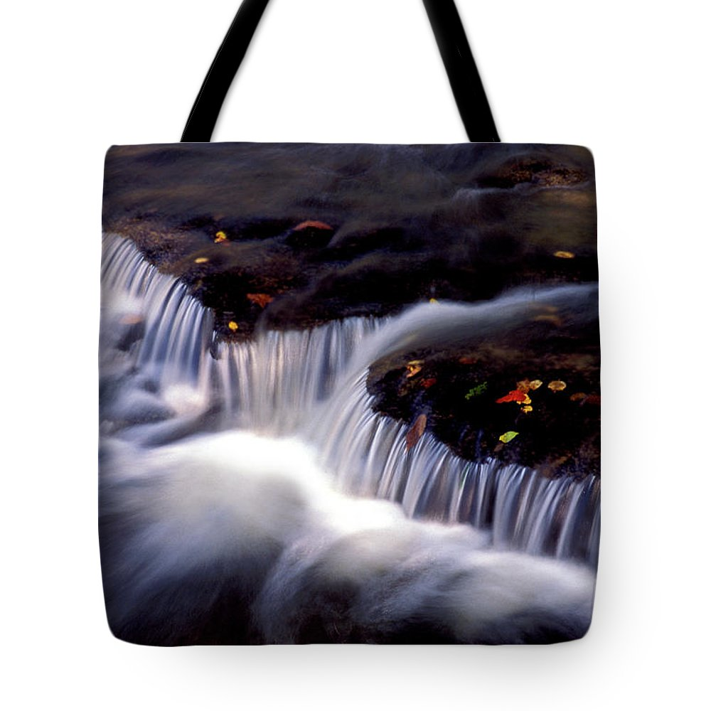 Water Tote Bag featuring the photograph Crystal Falls by Paul W Faust - Impressions of Light