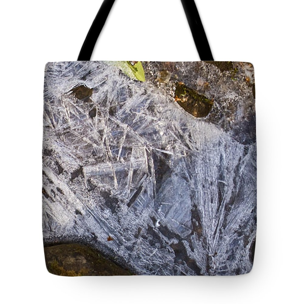 Frozen Tote Bag featuring the photograph Crystal Labyrinth  by Douglas Barnett