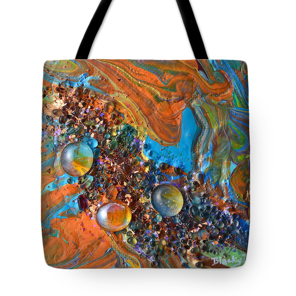 Modern Tote Bag featuring the mixed media Crystal Reef Of The Keys by Donna Blackhall