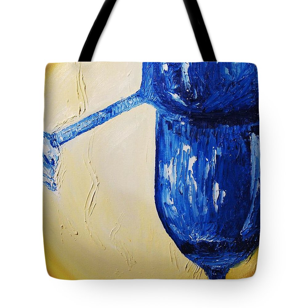Glass Tote Bag featuring the painting Crystal Spotlight by Lauren Luna