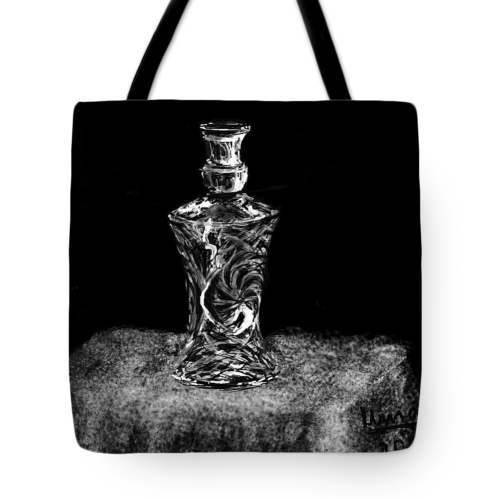 Crystal Tote Bag featuring the digital art Crystal by Uma Krishnamoorthy