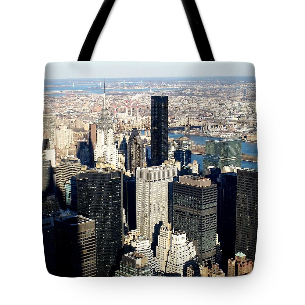 Crystler Building Tote Bag featuring the photograph Crystler Building 2 by Anita Burgermeister
