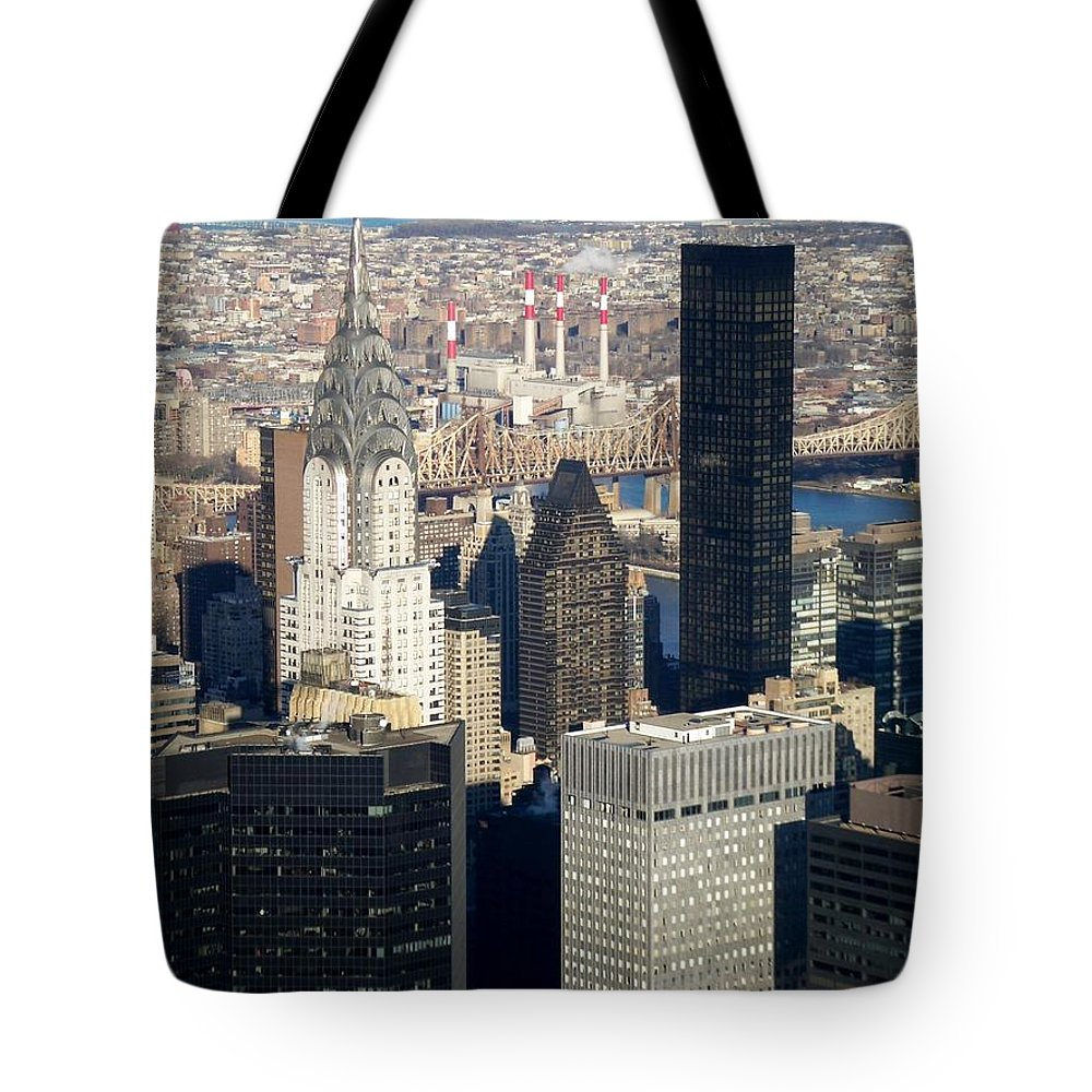 Crystler Building Tote Bag featuring the photograph Crystler Building by Anita Burgermeister